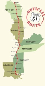 As you can se, Illinois had to be the longest state to travel. Our journey's end was Tennessee.